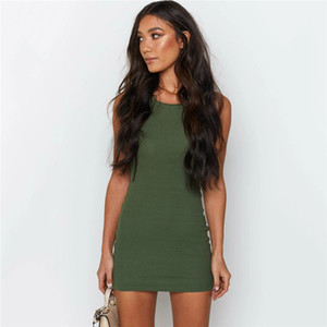 Womens Designer moulantes Robes Mode Natural Color Skinny Robes Casual manches ras du cou Robes Vêtements pour femmes