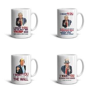 Beyaz Trump-istiyor-sen- Seramik Mug Komik Tasarım Coffee Cup Souvenir İlham Çay Kupalar Trump SİZE Oy Donald Amerika istiyorum Make istiyor