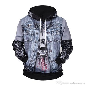 Europe size Long Sleeves Hoodies Drawstring Clothes Man Hot Sale Newest List Plaid 3D Printed Mens Hooded Fashion Top Coat