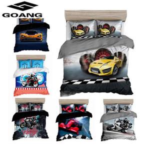 GOANG 3d motorcycle Racing boys bedding set bed sheet duvet cover and pillowcase home textiles kids beddings