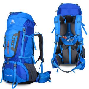 Grande capienza 80L Camping Trekking Outdoor Zaini Tracolle zaino Superlight Viaggi Sport Bag supporto in lega di alluminio 1.65kg