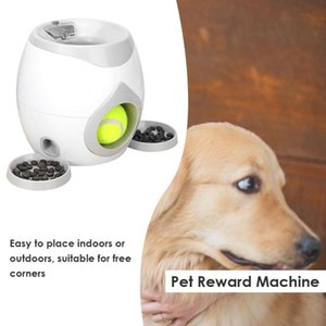 Pet Dog Machine Toy Tennis Reward Pet Ball Launcher Toy IQ Training for Dog Toy Dog Interactive Toys Pet Food Dispenser