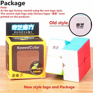 QIYI تشى دى 2X2X2 MAGIC SPEED CUBE POCKET STICKERless لغز CUBE PROFESSIONAL 2X2 SPEED CUBE EDUCATIONAL مضحك لعب للأطفال