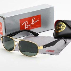 2019Brand 명품 선글라스 고품질 금속 경첩 선글라스 남성 안경 여성 일이 케이스 및 상자 UV400 렌즈 남여 안경