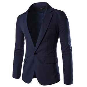 men suit blazer jacket single button fashion 2019 terno masculino slim solid Business Wedding Party Blazer D90516