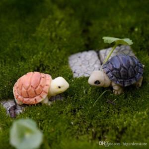 Caliente Bryophyte Micro paisaje con mucha carne Plantas coloreada dos pequeñas tortugas de la tortuga conchas de bricolaje Adornos Decoración de jardín en miniatura