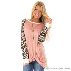 Kadın Tshirts Tasarımcı O Yaka Uzun Kollu Bayan Uzun Tshirts Moda Katı Renk Kadın Tees Yeni Leopard Gevşek