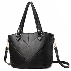 Mode Femmes sacs à main en cuir PU Tassel Totes Sac Top-poignée Sac bandoulière broderie épaule Bag Lady Sacs Couleur Noir