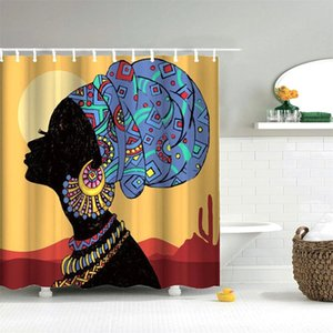 Dafield Designer Shower Curtain 100% Polyester Fabric Machine Washable Waterproof Durable African American Women Shower Curtain