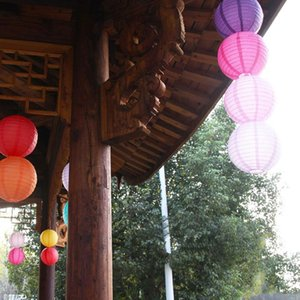Chinese Round Rice Paper Lanterns Lampion Balls Hanging Wedding Birthday Party Holiday Decoration DIY Craft gift