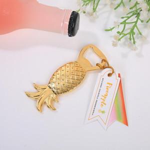 Golden Pineapple Shape Beer Wine Bottle Opener Barware Tool WedGolden Pineapple Shape Beer Wine Barware Tool