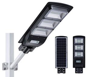 LED-Licht Solar Street-Licht außerhalb 20w 40W 60W mit Bewegungssensor IP65 wasserdichte LED-Lampe SMD2835 LED-Chip für Straßengarten-Park