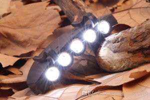 5 Leds Cap Hat Light Clip-On 5 LED Fishing Camping Head Light HeadLamp Cap with 2* CR2032 cell Batteries 2019