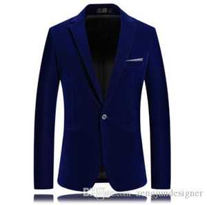 Mens Autumn Designer Blazers Solid Color Long Sleeve Lapel Neck Homme Clothing Single Button Business Style Casual Apparel