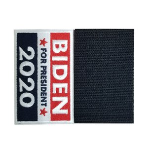 Trump Biden Magic Sticker 2020 American Election Embroidery Stickers USA Flag Striped stars Sticker For Clothes And Bag 5*8cm LJJA4105