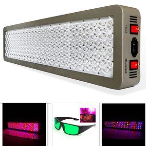 12 밴드 의료 P600 600W 전체 스펙트럼 LED 식물 성장 라이트 VEG / 블 룸 듀얼 칩 수경법 성장 텐트 램프 무료 고글 P300 P450