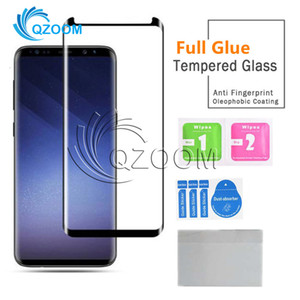 5D Full Glue Case Friendly Tempered Glass Curved Phone Screen Protective For Samsung Galaxy S20 Ultra Note 10 S10 S9 S8 Plus 8 Huawei P40 Pro