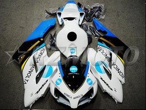 OEM-Qualität New ABS Voll Fairings Kits passen für Honda CBR1000RR 2004 2005 04 05 CBR1000RR Karosserie-Set Individuelle White Light blau kühlen