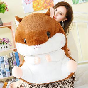 Sevimli şişman hamster bebek dev karikatür fare peluş oyuncak yastık çocuk kız uyku oyuncaklar doğum günü hediyesi için 65 cm 26 inç DY50562