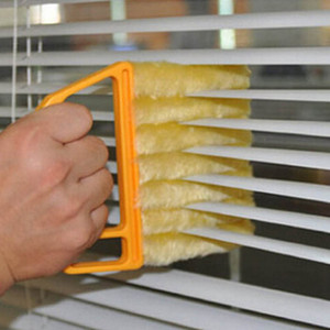 Useful Microfiber Window Cleaning Brush Air Conditioner Duster Mini Shutter Cleaner Washable Cleaning Cloth Brush RRA2058