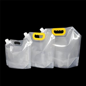 1.5 / 2.5 / 5L Stand-up bebida Embalagens plásticas Bag bico Bolsa para Juice cerveja bebida líquida Leite Café DIY Embalagem Bag