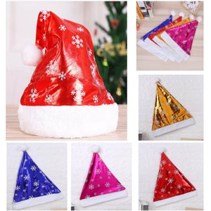4 cores Snowflake Pattern Chapéus Moda Quente de Natal macio Pompon Bola Hat exterior Beanie Ski Cap Festival Decoração HH9-A2557