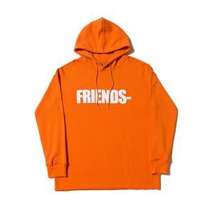 Vlone Hoodie Vlone Friends Hombres Mujeres Sudaderas con capucha de alta calidad Azul naranja púrpura para hombre Hoodies del diseñador