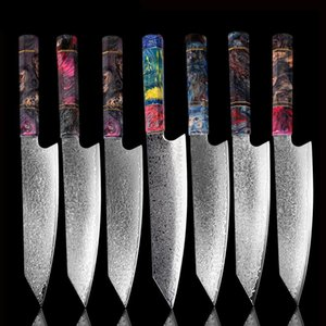 Nakiri Faca 67 Camadas de XITUO chef japonês Damasco de aço Damasco Chef faca 8 polegadas Damasco faca de cozinha solidificados Madeira HD