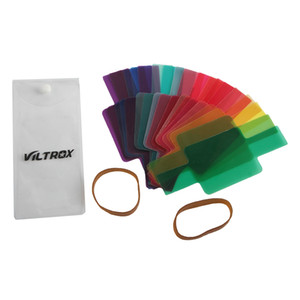 Wholesale 20PCS Color Photographic Color Gels Filter Card Lighting Diffuser for Canon Nikon Yongnuo Flash Nissin Speedlite