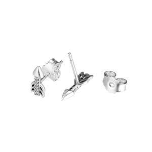 Совместим с серьги стерлингового серебра 925 сверкающие стрелки серьги для женщин европейский стиль ювелирные изделия оригинальный мода Шарм
