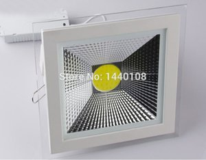 10pcs / lot Nouveau Design Surface de Verre 5W 10W 15W LED COB Slim Carré Plafond Encastré Grille Downlight Flat Panel Light