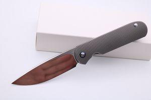 """SMKE Messer Custom Shamwari Front Flipper Tasche Klappmesser M390 3,5 """"Klinge 3D Titanium Griff Survival Taktische Messer Outdoor-Werkzeuge"""