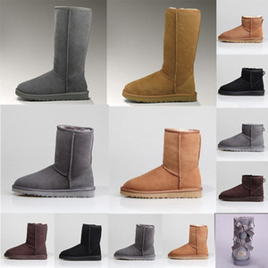designer Fashion women winter boots over the knee thigh high ankle snow australia boot Classic girl womens MINI Bailey booties shoesbffe#
