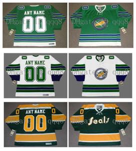 Shirt vintage Oakland Seals Jersey Personnalisation de glace NHL Hockey Maillots Grren Blanc Cousu Pas de préférence Nombre Nom Taille S-XXXXL