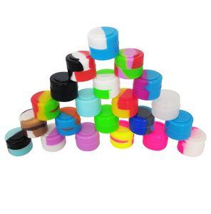 200 pçs / lote 2 ml mini assorted cor recipiente de silicone para salpicos Recipientes De Silicone de Forma Redonda cera Frascos De Silicone