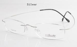 명품 브랜드 티타늄 무테 안경 안경 프레임 스크류 처방 안경 (Bax 포함) 무료 배송