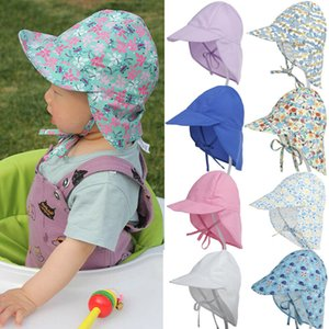 Protection Cotton Bucket Hat Summer Newborn Unisex Baby Kids Sun Cap Solid Floral Print Hat Bandage Closed Fishing Cup