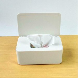 Wet Wipes Dispenser Holder Tissue plastic Storage boxes containers Box Case with Lid for Home Office