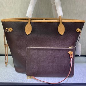 Doces de qualidade saco top sacos de compras mulher Neverfuull MM Genuine couro ombro sacos de lona composta bolsa senhora saco de moda com a caixa B006