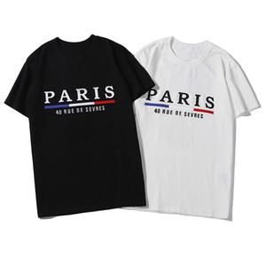 Designer shirt di lusso del Mens marca famosa di stampa della lettera del progettista del Mens maniche corte Uomo Nero Donne alta qualità bianca di Hip Hop Tees