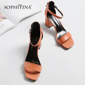 SOPHITINA Sandales grande taille avec boucle cheville mode plein cuir de vache Chaussures Boucle main 2020 Nouveau Sandales Casual MO40