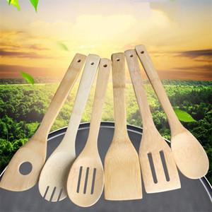 Doğal Bambu çorba kaşığı 6 stilleri ahşap renk mutfak Spatula yapışmaz pişirme kürek eşyaları En Çok Satan 1 3zl E19