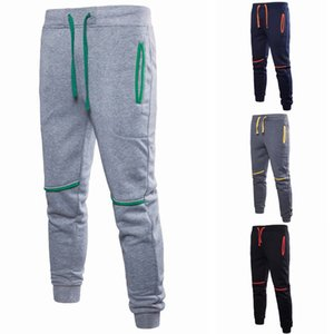 2019 Casual Calças Corredores de futebol calças Athletic Homens de Moda de Nova Estilo cordão retalhos com bolso