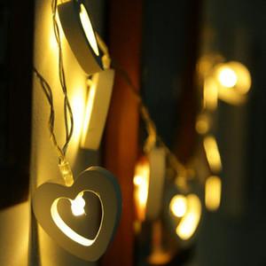 하트 모양은 따뜻한 화이트 나무 문자열 요정 조명 크리스마스 트리 토퍼 LED