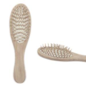 En Bois Bambou Cheveux Brosse SPA De Massage Peigne Anti-statique Cheveux Curl Droite Massage Peigne Brosse Styling Outils H7JP
