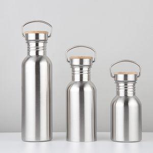 Moda de gran capacidad Botellas de agua de la boca grande de acero inoxidable botellas individuales de la capa de deportes al aire libre de bicicletas Caldera 12 oz 17 oz 25 oz VT0238