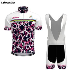 Велоспорт Jersey Sets SPTGRVO LAERSCHDAN PRO 2021 майки для майки Летний Короткий набор Цикл Одежда Женщины / Мужчины Горный велосипед Одежда MTB Велосипедный костюм