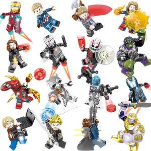 2019 Vengadores Figuras 4 Fin del juego micro espacio Iron Man Hulk Wars regalos de la máquina Modelo Blocks juguetes de los ladrillos SY1311