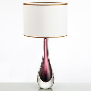 Nuovo arrivo contemporanea Lampada da tavolo con paralume da tavolo moderna Vetro Trasparente Desk Lamp per camera da letto Indoor illuminazione della decorazione trasporto veloce