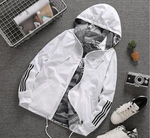 Spring and autumn new couple wear jacket men windbreaker hooded female jacket teens Sportswear coat Outdoor sportswear